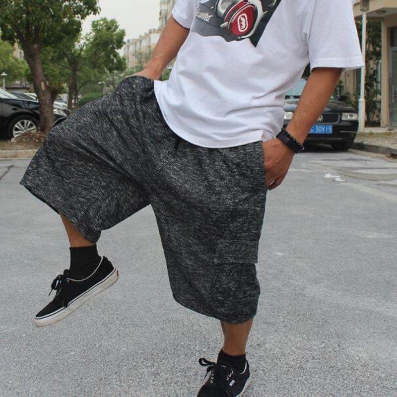 Allentato rigonfio estate pantaloncini casuale uomini Camouflace elastico in vita Shorts Hip Hop Harem Boardshorts uomo Abbigliamento 5XL 6XL