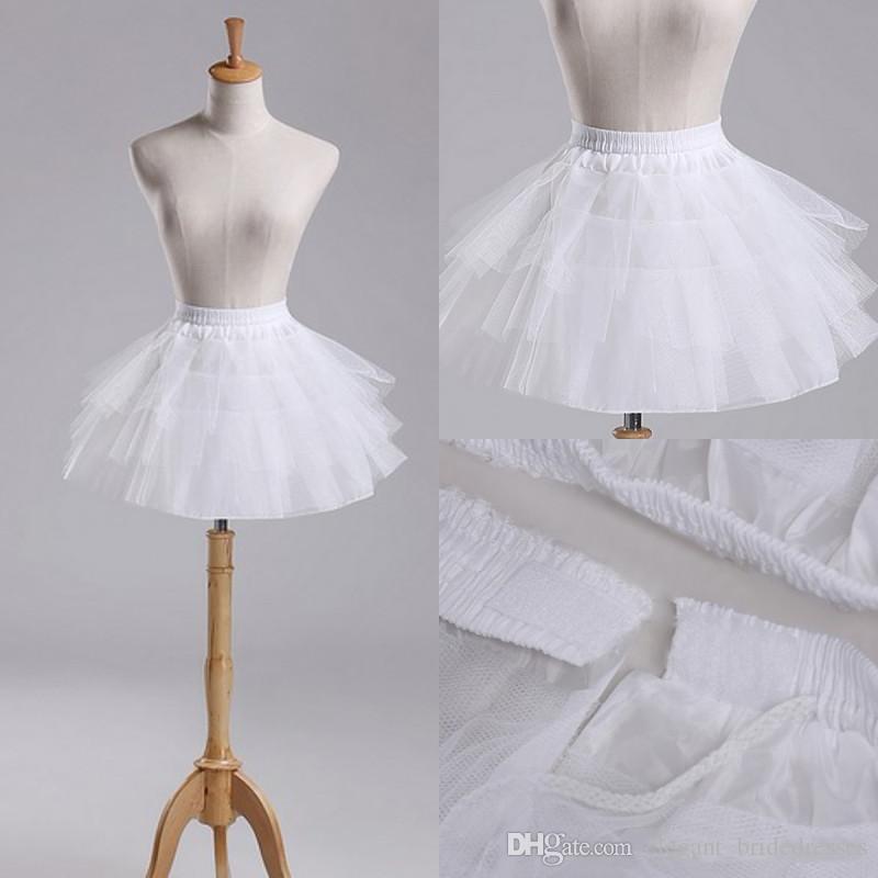 2019 Nuevos enaguas blancas para resbalones cortos Vestido formal Formal CRINOLINE Accesorios de boda 3 capas Lady Girls Stock Corta Sirve de stock