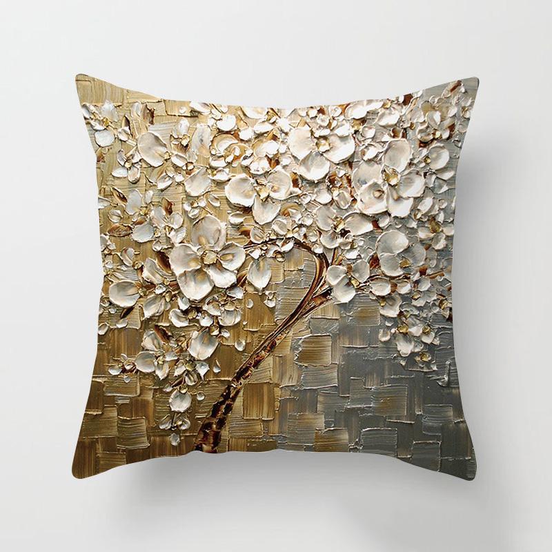 2020 Novo Design Flor 45x45cm Moda sofá fronha Árvore colorida capa de almofada Lance fronha Início Sofá-cama Cadeira de Decoração