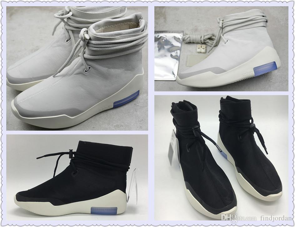 2020 2019 New Release Fear Of God SA AT9915 002 Light Bone Black Zoom Designer Shoes Men Fashion FOG 1 Shoot Around Top Quality Sneaker From