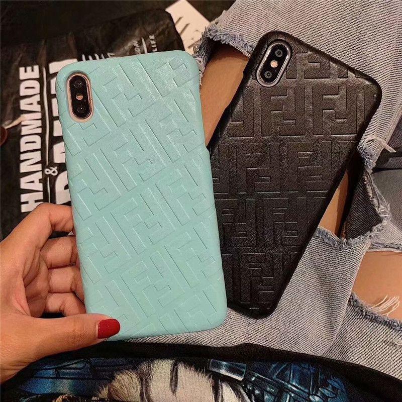 Cas mince de téléphone portable de cas de téléphone de concepteur pour l'iPhone XS Max / XR X 8/7/6 plus antichoc durable téléphone portable Shell arrière
