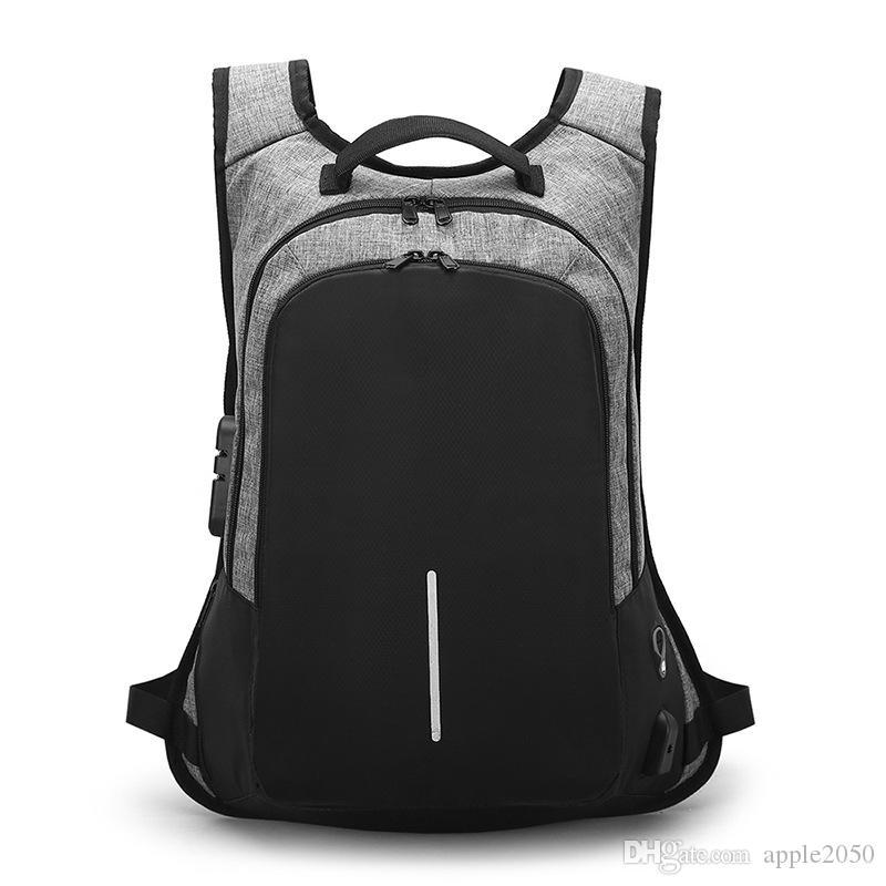15.6 بوصة حقيبة كمبيوتر محمول لا مفتاح TSA مكافحة سرقة الرجال حقيبة السفر في سن المراهقة حقيبة الظهر الذكور bagpack
