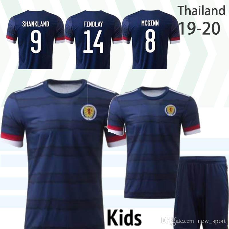 Thaïlande 2020 Ecosse maillot de football Coupe euro 2020 Ecosse Maillot de foot ROBERTSON FRASER NAISMITH MCGREGOR CHRISTIE hommes FORREST enfant camisoles