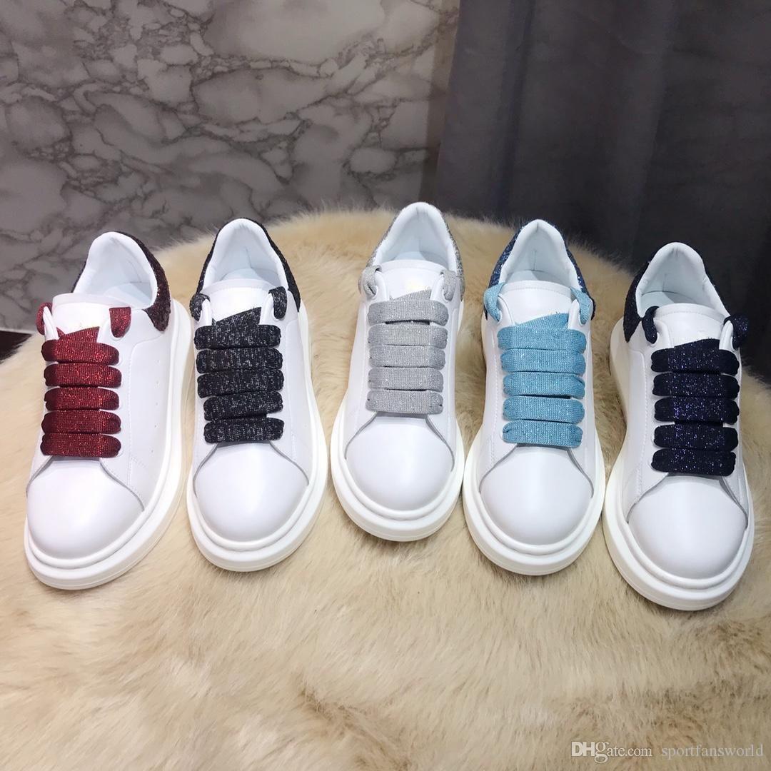 2019 dentelle couleur hauteur Oversize incease chaussures de sport réfléchissantes hommes en cuir suède métal 3M femmes chaussures 35-45 chaussures de sport avec boîte