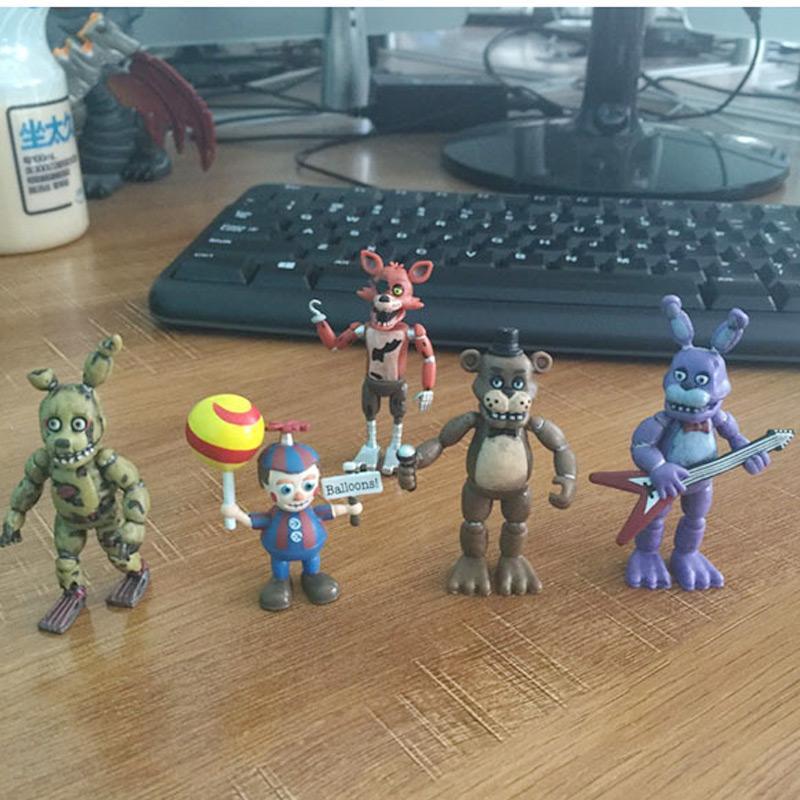 "5cm 2 Tipos FNAF cinco noches en Freddy 'S 4 Figura 1 Set 2 ""Modelos Chica Freddy Foxy Figura cinco noches en Freddys"