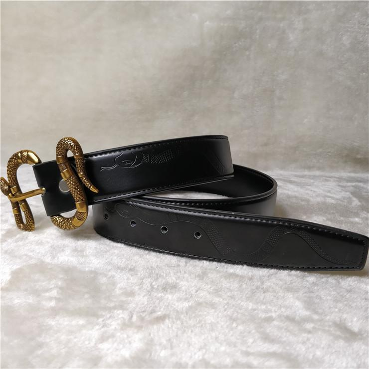 Designers Belts Mens Belts Designers Belt for Women Snake Luxury Belt Leather Business Belts Women Big Gold Buckle shipping with Bo