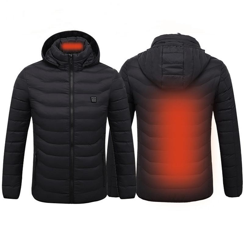 Outdoor Winter Smart USB Electric Heated Vest Thermal Thermostat Heating Jacket For Skiiing Hunting Warm Heating Clothes
