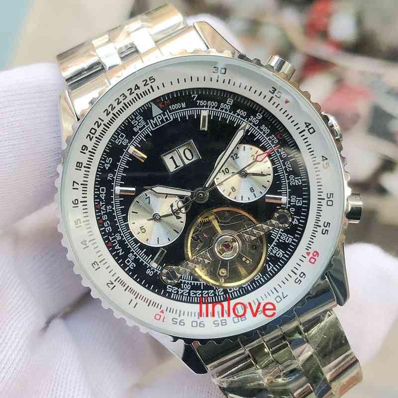 Роскошные мужские часы кожа автоматические механические наручные часы мужские Спорт Бизнес Мода ремень Дизайнер Наручные часы
