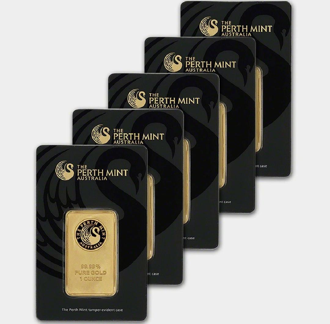 5/10/20 / 31Gram Perth Mint Gold Bar Australie Bar noir vert Blister Hot vente d'entreprise cadeau Accueil Décorations Artisanat Métal