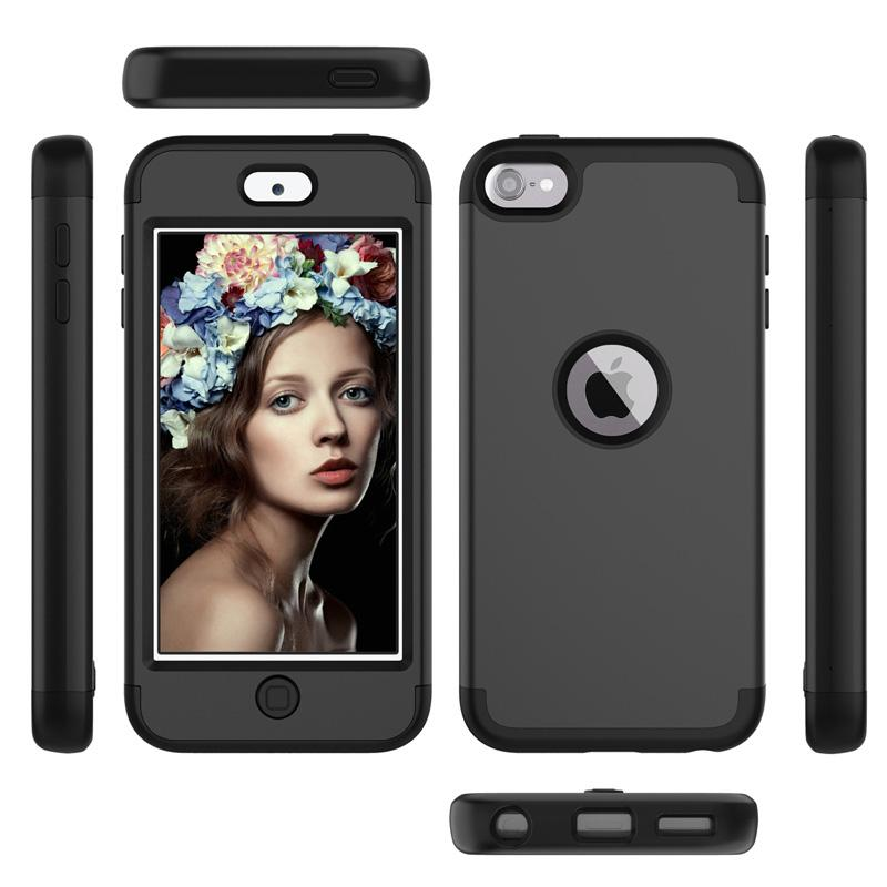 Armor Case Impact Hard PC+Soft Silicone Hybrid 3 in 1 Heavy Duty Dual Color Rubber skin for iPod Touch 7 (2019) Touch 6