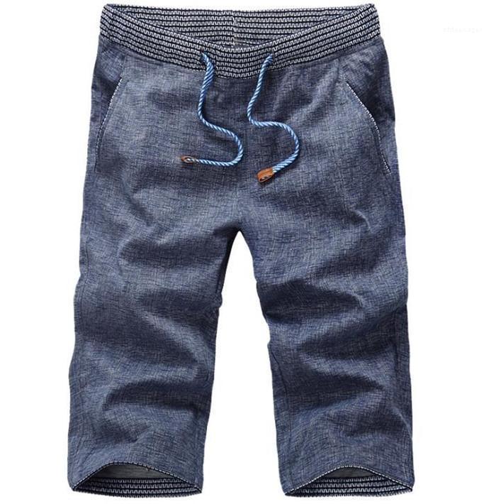 Designer Oversize curto Jeans Verão bolsa com cordão de Bolso Shorts machos New Style Rua Denim Pants Mens joelho