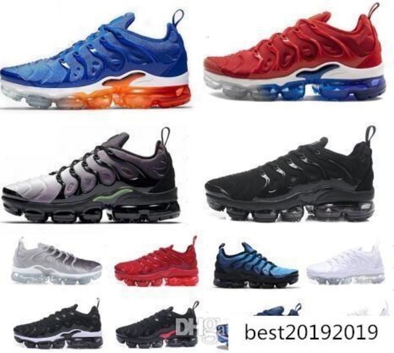 2019 Usa jogo real Tn Além disso Designer sapatilha Running Shoes Triplo Preto Branco Volt Violet Sliver Gradiente Homens Mulheres de alumínio Formadores do sol