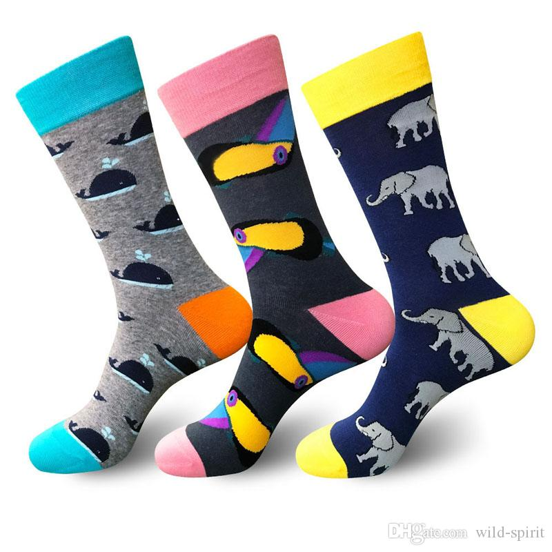 New Style Happy Socks Men Outdoor Sports Socks Pattern Stockings Colorful Cotton Sock Breathable Funny Dress Stocking Christmas Gifts M167Y