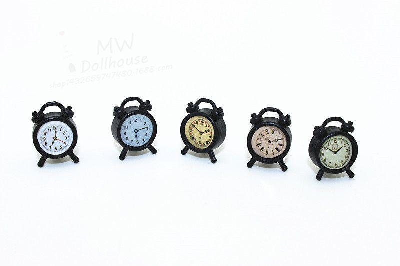 1:6//1:12 Scale Alarm Clock Dollhouse Decoration Miniature Toy Doll Accessories