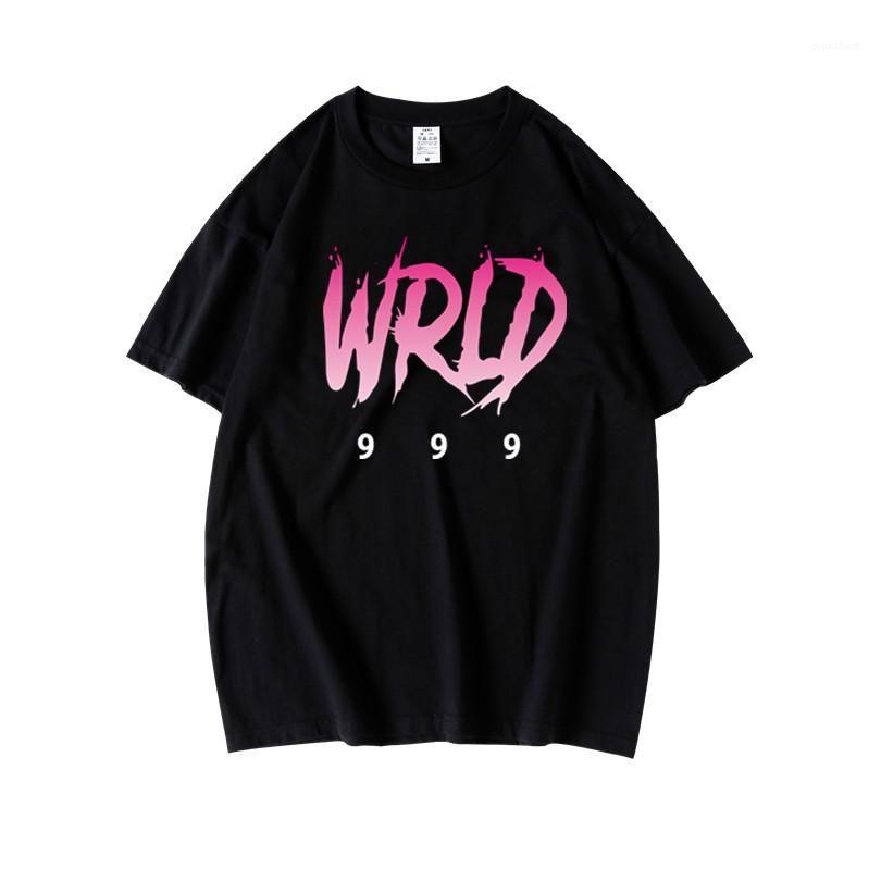 Lose Tees Mens Designer Sommer Hiphop Signer Street Style mit Rundhalsausschnitt Süße Farben-T-Shirts Jugendliche Schreiben Drucken
