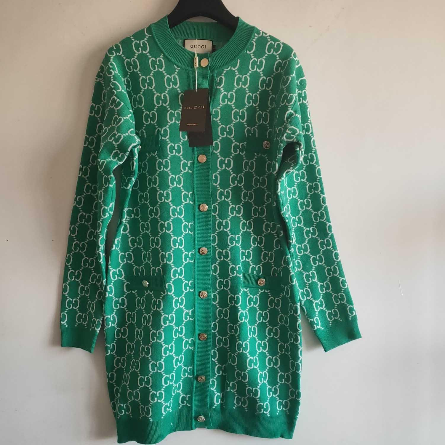 Progettista delle donne Cardigan Ladys Marca maglioni lunghi delle donne Lettera casual Stampa Lunga Abbigliamento di lusso maglione Top Quanlity