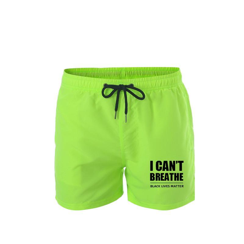 Sommer Männer Badehose Badebekleidung 2020 der Männer atmungsaktiv schnell trocknend Bademoden ich nicht atmen kann Männer neue Strandhosen drucken
