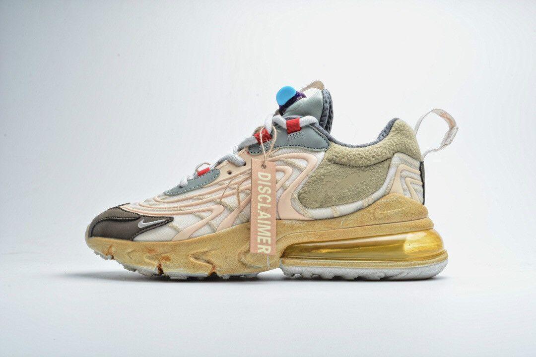 A2020 новый подлинный Трэвис Скотт х обуви 270 реагировать светло-кремовый темно-карие слюды звезды кроссовки аутентичные обувь размер 36-45 CT2864-2