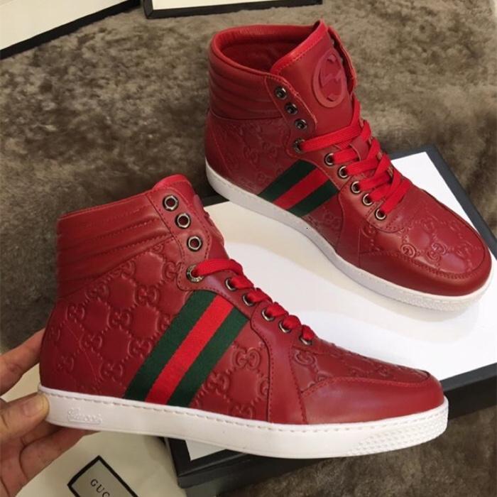 New Ace Signature Sneaker Mens luxe haut Baskets montantes haute qualité vitesse Marque Entraîneur Chaussures Designer Classique Imprimer Cuir Chaussures Casual