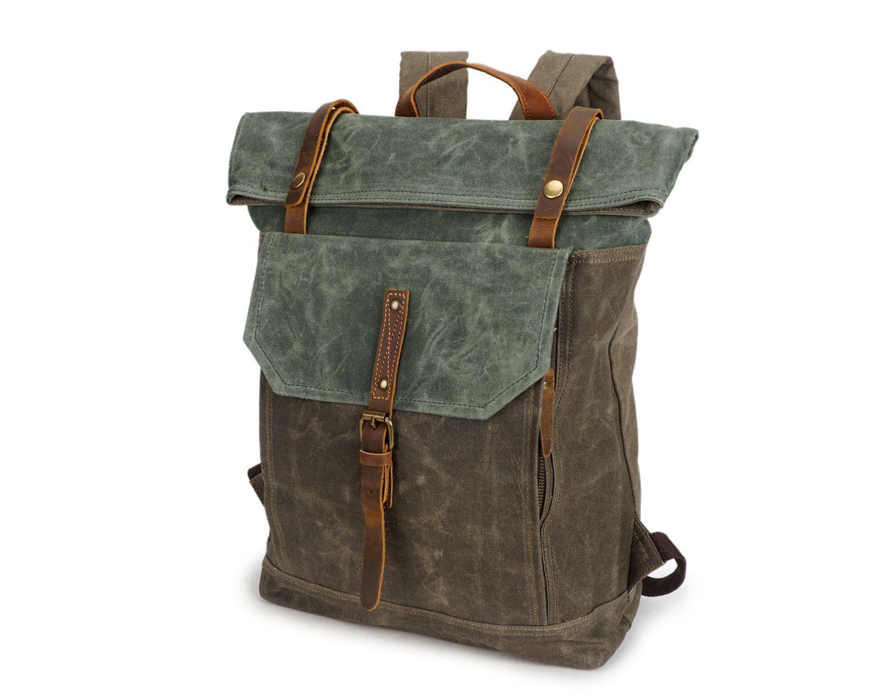 Mens Vintage Canvas Rucksäcke Hohe Kapazität Outdoor Schule Reiserucksack Lässige Große Duffles Taschen Über Nacht Wochenende Taschen