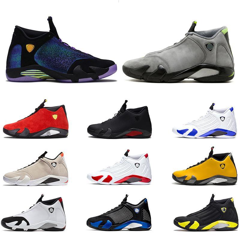Nike Air Jordan 14 Retro Basketball Chaussures Classe de 2003 Hyper Royal Italie Bleu Noir Cat Altitude Pas Cher Sport Baskets Sneakers Taille 41-47