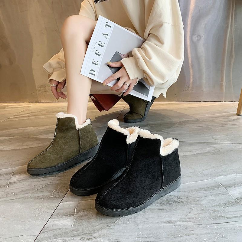 Snow boots plus velvet women's boots casual Korean fashion to keep warm winter women