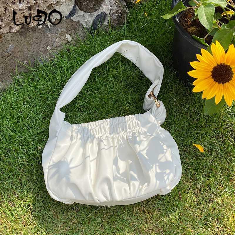 LUCDO Женской моды клатчи Дизайн женщин сумка 2020 Новое лето кожа смазливая плеча Сумка