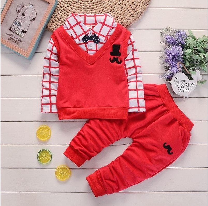 Conjunto de ropa para niños camisa Pantalones niños trajes nuevo traje de moda