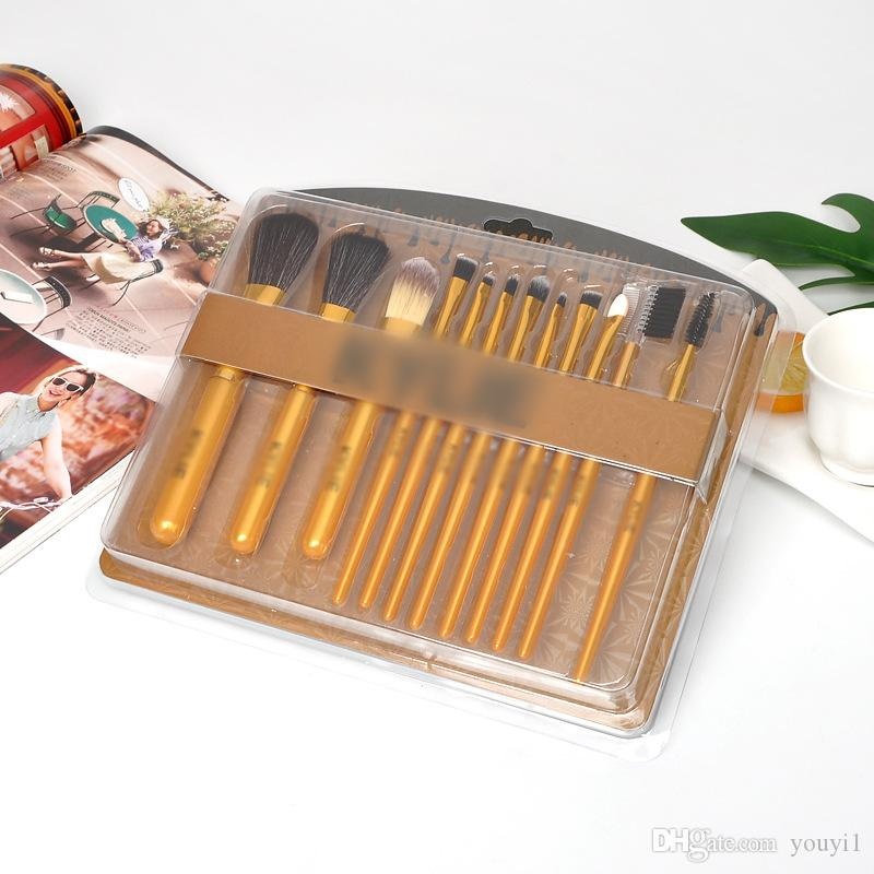 Cepillos del maquillaje cosméticos del sistema de cepillo de sombra de ojos Paletas Foudation pinceles de maquillaje 4 estilos herramientas de maquillaje kit