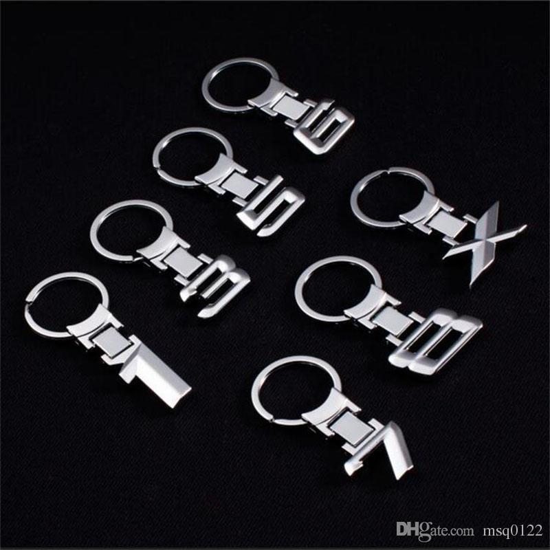 per Mercedes Benz 3D logo portachiavi in acciaio cromato portachiavi