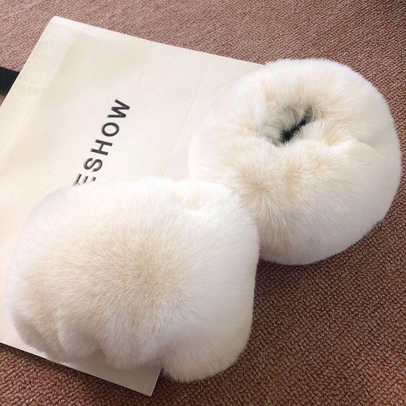 MIARA.L Faux Fur Sleeve Warm Sleeve Gloves Windproof Cuff Guard Ring Imitated Hair Imitated Hair Wristband