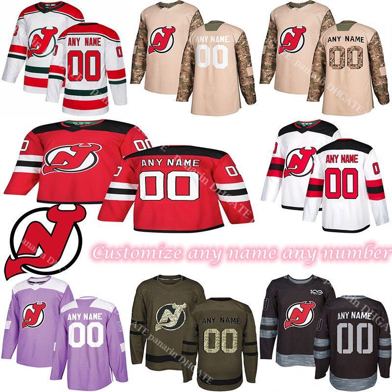 Benutzerdefinierte 2020 News New Jersey Devils Hockey-Trikots Mehrere Stile MENS Customize Jeder Name Alle Nummernhockey-Trikots