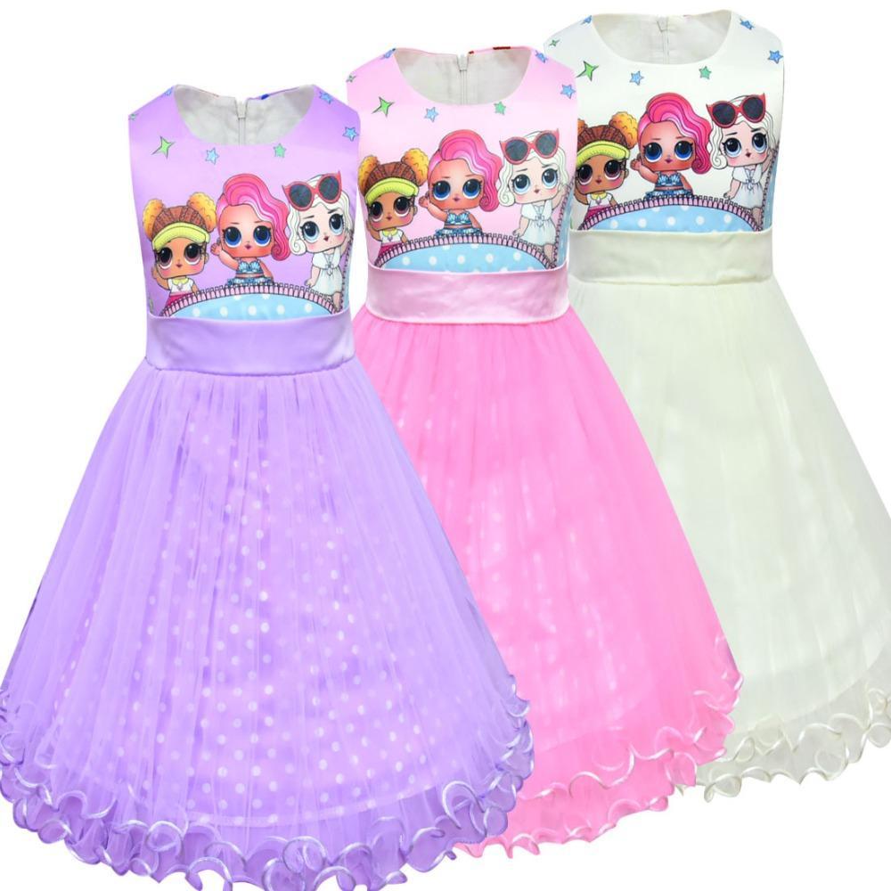 Compre Lol Bonecas Bebê Vestidos De Verão Bonito Elegante Vestido De Festa Crianças Trajes De Natal Crianças Roupas Princesa Lol Meninas Vestido De
