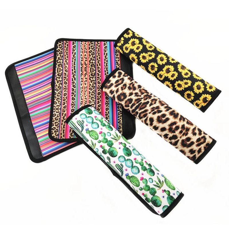 Hot ventes en néoprène voiture ceinture de couverture SeatBelt manches de tournesol Leopard Cactus Seat voiture de sécurité Ceinture Pad couverture Ceinture bandoulière Pad