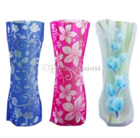 Eco amigável Dobrável Flor Dobrável PVC Durável Casa de Banho Festa Fácil de Armazenar 27x12 cm