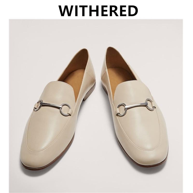 DaveDi Англия офис леди простой натуральная кожа мягкие мокасины slip-on мокасины женская обувь Женская обувь на плоской подошве