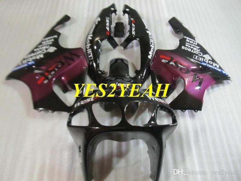 KAWASAKI 닌자 ZX-7R ZX7R 1996 2003 ZX 7R 96 97 02 03 핑크 페어링 차체 + 선물 KZ21 오토바이 페어링 바디 키트
