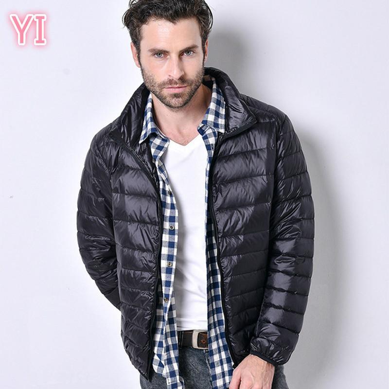 уг 2019 NEW Мужчины пуховики зима Мужчины Повседневная jacketCoat Теплый Parka