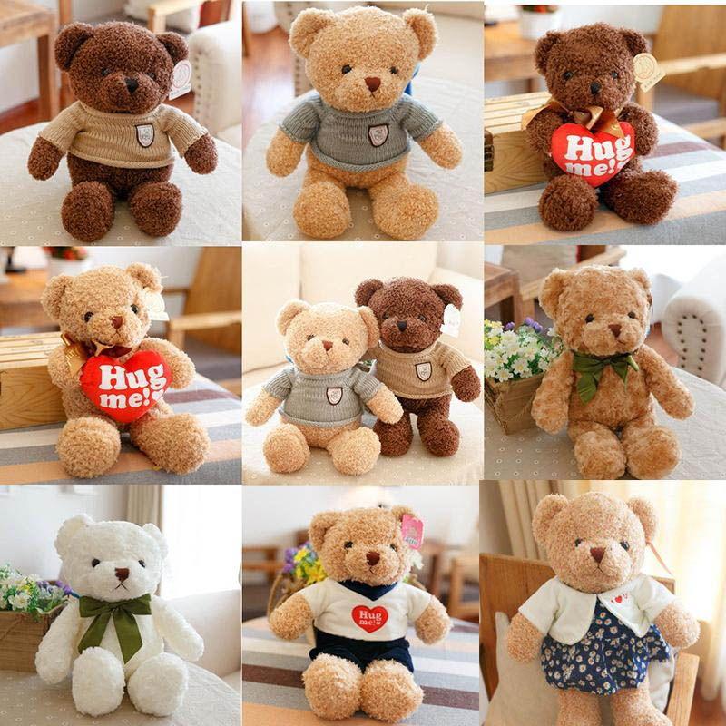 Ursinho de pelúcia de alta qualidade 30CM com lenço Bichos de pelúcia urso de pelúcia brinquedos do presente de aniversário do bebê do urso de peluche da boneca amantes