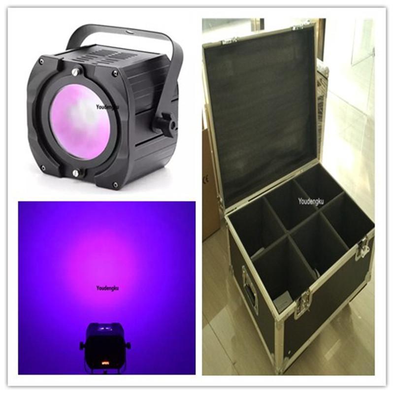 6pcs Avec Flightcase Wedding Party intérieur Utiliser Purple Led Cob Par Lumière 70W Cob Led Uv Par Lumière