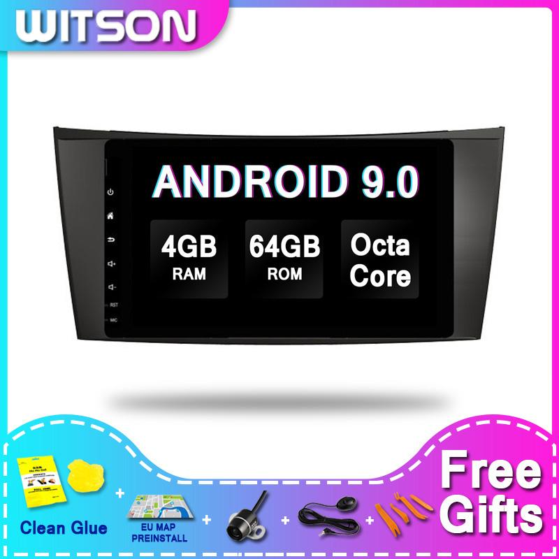 Witson ANDROID 9.0 Lecteur multimédia voiture pour - Classe E W211 DVD de voiture Lecteur multimédia 4GRAM 64GBROM
