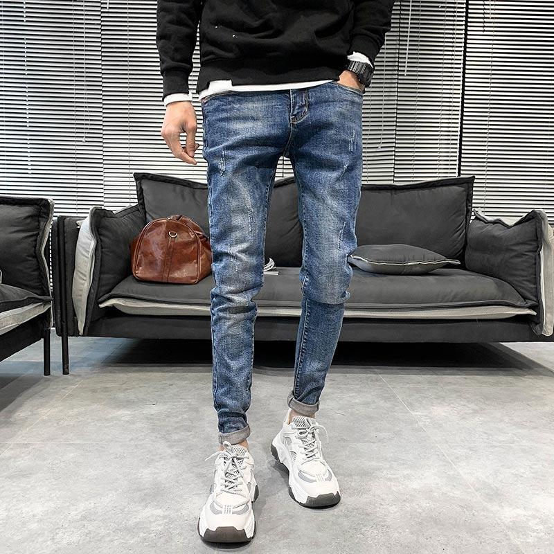 Mode 2020 Hommes Printemps Jeans de haute qualité stretch Slim Fit Denim Jeans Hommes Casual Streetwear Tout match Hip Hop Pantalons pour hommes