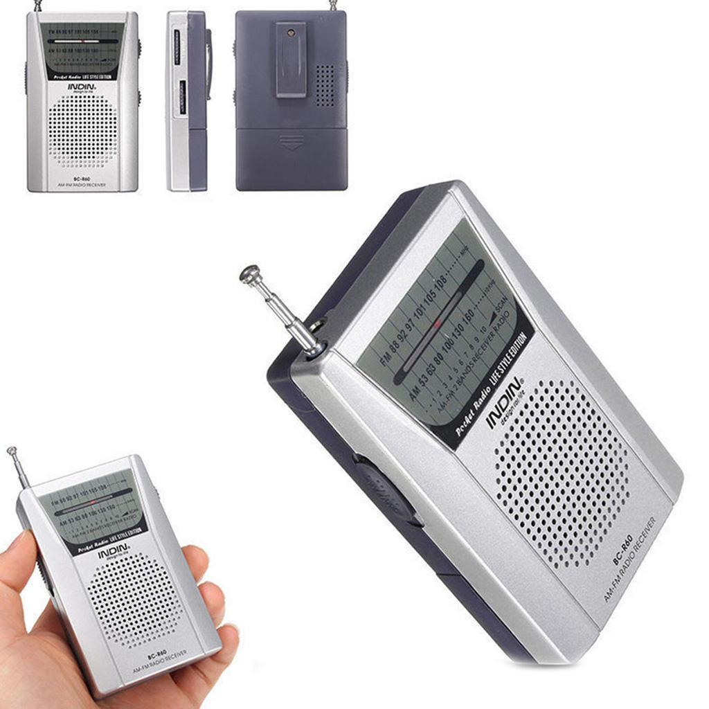 Standard Earphones Jack Built-in Speaker High-Performance Receiver Portable AM//FM Battery Operated Mini Radio Telescopic Antenna