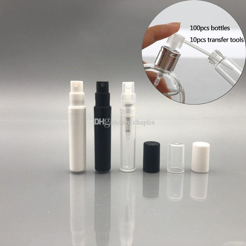 3ML / 3Gram إعادة الملء عينة من البلاستيك رش زجاجة فارغة البسيطة الصغيرة جولة عطر من الضروري النفط البخاخة حاوية لغسول للبشرة أنعم