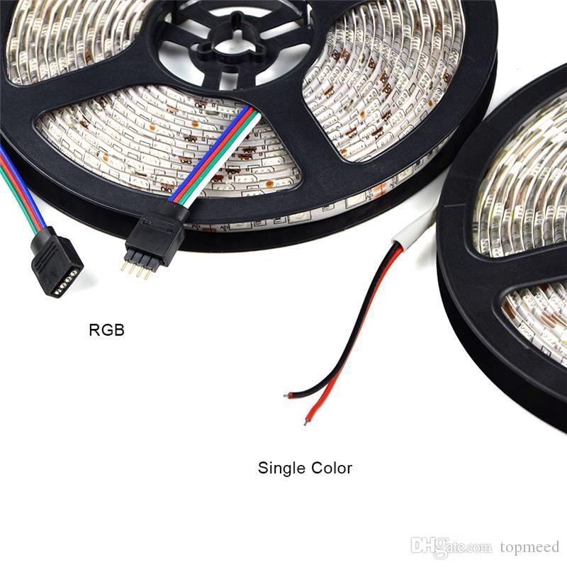 IP65 impermeabile 300 LED 5M 5050 SMD 8 colori LED flessibile striscia luce bianco freddo caldo bianco 60leds / M condotto nastro