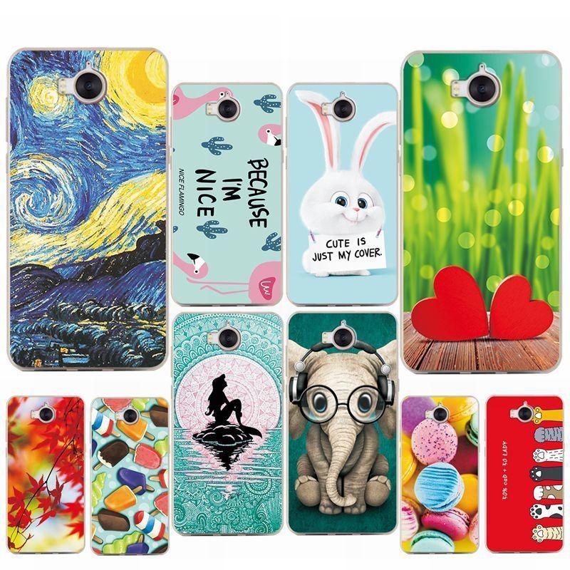 "Vários casos de telefone sereia flamingo para huawei y6 5.0 ""Soft Silicone Caso Coque Funda Para Huawei Y6 Mya-l11 Mya-l41"
