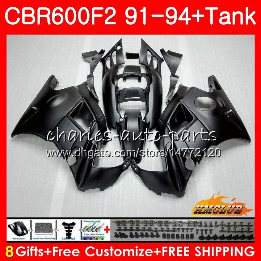 Body +Tank For HONDA CBR 600F2 CBR600FS CBR 600 FS F2 91 92 93 94 40HC.5 600CC CBR600 F2 CBR600F2 1991 1992 1993 1994 Fairing matte black