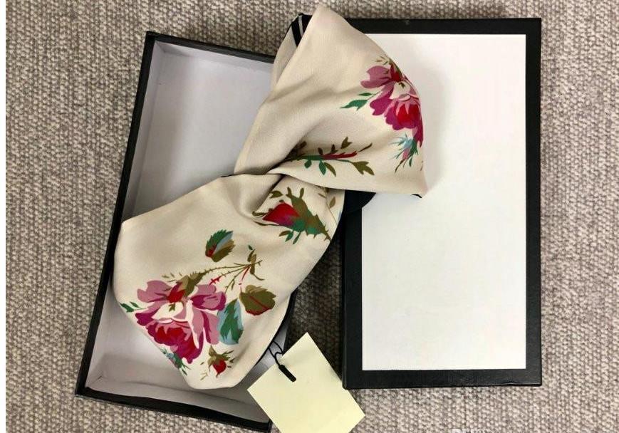 Дизайнеры Silk Cross Elastic Женские повязки повязки итальянские бренды девушки цветы волосы полосы для волос шарф аксессуары для волос подарки горячие продажи лучшие заголовки