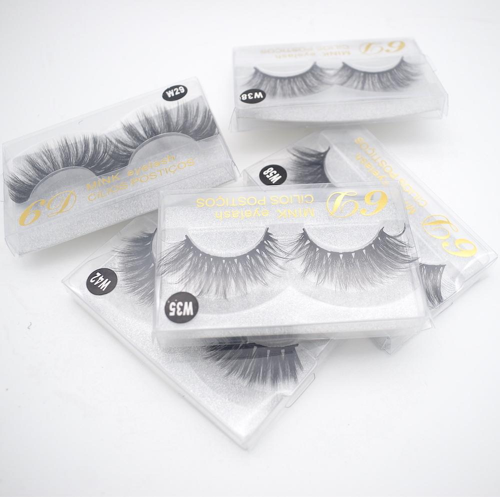10 estilos de pelo de visón falso 3D de pestañas de visón pelo falso pestañas falsas pestañas extensión natural reutilizable 20 pares liberan el envío