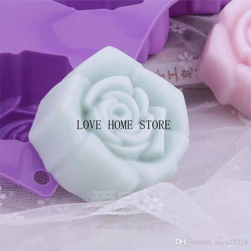 6 in 1 forma di fiore di rosa della torta del silicone Stampi in silicone Stampi torta stampo in silicone utensili da cucina, decorazioni, accessori fondente